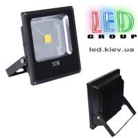 Светодиодный прожектор LEDSTAR Slim 30W 6000K (черный)