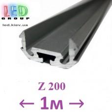 Профиль алюминиевый АНОДИРОВАННЫЙ для светодиодной ленты, Z200 - 1 метр