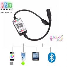 Контроллер/диммер/музыкальный для светодиодных лент 5-24V RGB, 12А. Bluetooth, Mini, 3 канала по 4A