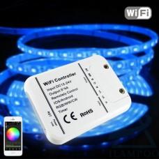 Контроллер/диммер/музыкальный для светодиодных лент 12-24V RGB, RGBW, RGB+W, 20А. Wi-Fi, 5 каналов по 4A
