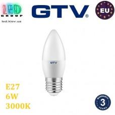 Светодиодная LED лампа GTV Е27 C37 6W 3000K Польша!!!