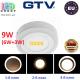 Светодиодный LED светильник GTV, 9W (6W+3W) EMC+, 3 в 1, 3000К, накладной, TWINS. ЕВРОПА!!! Гарантия - 2 года!