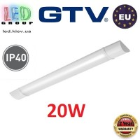 Светодиодный LED светильник GTV, 20W (ЕМС +), 4000К, 600мм, IP40, накладной, ASPEN. ЕВРОПА!!! Гарантия - 2 года!