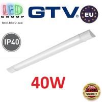 Светодиодный LED светильник GTV, 40W (EMC+), 4000К, 1200мм, IP40, накладной, ASPEN. ЕВРОПА!!! Гарантия - 2 года!