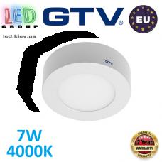 Светодиодный LED светильник GTV, 7W, 4000К, круглый, накладной, IP20, ORIS. ЕВРОПА!!! Гарантия - 2 года!