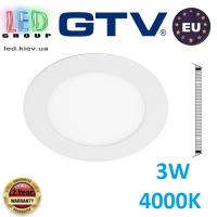 Светодиодный светильник GTV, 3W (EMC+), 4000К, круглый, встраиваемый, ORIS. ЕВРОПА!!! Гарантия - 2 года