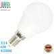 Светодиодная LED лампа, 6W, E14, G45, 4500К – нейтральное свечение, AL + PL, RА>80