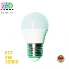 Cветодиодная  LED лампа 4W, E27, 3000К - тёплое свечение