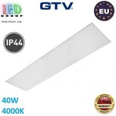 Светодиодная LED панель GTV, G-TECH 40W, 4000K, IP54, 120х30см, толщина - 10мм. ЕВРОПА!!! Premium. Гарантия - 2 года!