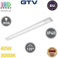 Светодиодный LED светильник GTV, 40W (ЕМС +), 3000К, 1200мм, IP40, накладной, ASPEN. ЕВРОПА!!! Гарантия - 2 года!