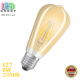 Светодиодная LED лампа FILAMENT, 8W, E27, ST64, 2350K -  тёплое свечение, Amber, Ra≥80