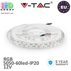 Светодиодная лента V-TAC, 12V, SMD 5050, 60 led/m, 10.8W, IP20, RGB, Premium, Европа! Гарантия - 2 года.