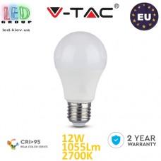 Светодиодная LED лампа V-TAC, 12W, E27, Ra≥95, 2700К – тёплое свечение. ЕВРОПА!!! Гарантия - 2 года