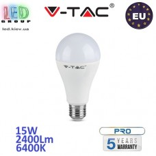 Светодиодная LED лампа V-TAC, 15W, E27, 160Lm/W, 6400К – холодное свечение. ЕВРОПА!!! Гарантия - 5 лет
