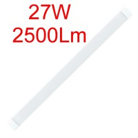 Светодиодный линейный светильник 27W, 600мм, 6500К, IP20, накладной.
