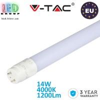 Светодиодная LED лампа V-TAC, T8/G13, 14W, 90см, 4000K белый нейтральный свет, Ra≥80, Nano Plastic. ЕВРОПА!!! Гарантия - 3 года