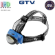 Фонарик налобный светодиодный GTV 3W, 3xAAA 1.5V (без батареек), IP20, HOEGERT. ЕВРОПА!
