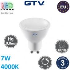 Светодиодная LED лампа GTV, 7W, 4000K, GU10, MR16, диммируемая. ЕВРОПА!!! Гарантия - 3 года
