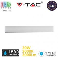 Светодиодный LED светильник V-TAC, 20W, настенный, IP44, двусторонний тёплый свет 3000К, алюминиевый корпус. ЕВРОПА!!! Гарантия - 2 года