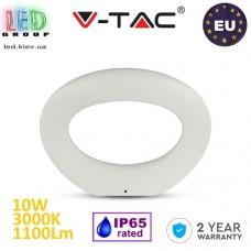 Светодиодный LED светильник V-TAC, 10W, 1100Lm, IP65, 3000K - белый тёплый свет, 360°, Ra≥80, настенный, белый корпус. ЕВРОПА!!! Гарантия - 2 года