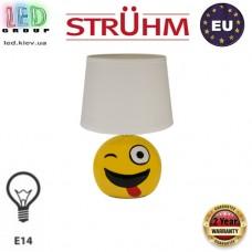 Настольная лампа/корпус, Strühm Poland, E14, металл + керамика, IP20, жёлтый/белый, EMO. ЕВРОПА! Гарантия - 2 года