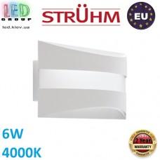 Декоративный светодиодный светильник, Strühm Poland, 6W, 4000K, накладной, сталь, белый, SOPRAN LED. ЕВРОПА