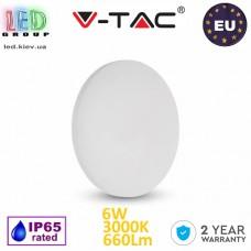 Светодиодный LED светильник V-TAC, 6W, 660Lm, 3000K, 360°, Ra>80, BRIDGELUX CHIP, IP65, настенный, круглый, белый. ЕВРОПА!!! Гарантия - 2 года