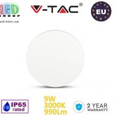Светодиодный LED светильник V-TAC, 9W, 990Lm, 3000K, 360°, Ra≥80, BRIDGELUX CHIP, IP65, настенный, круглый, белый. ЕВРОПА!!! Гарантия - 2 года