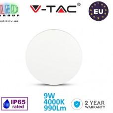 Светодиодный LED светильник V-TAC, 9W, 990Lm, 4000K, 360°, Ra≥80, BRIDGELUX CHIP, IP65, настенный, круглый, белый. ЕВРОПА!!! Гарантия - 2 года