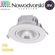 Светодиодный LED светильник Nowodvorski CEILING COB 6970, 3W, 3000К, круглый, встраиваемый, точечный. ЕВРОПА!