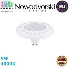 Светодиодная LED лампа Nowodvorski 9214 LED DIFFUSER, 9W, GU10, ES111, 30°, 4000К – нейтральное свечение, белый корпус. ЕВРОПА!!!
