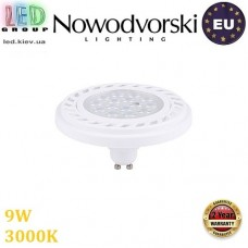 Светодиодная LED лампа Nowodvorski 9345 LED LENS, 9W, GU10, ES111, 30°, 3000К – тёплое свечение, белый корпус. ЕВРОПА!!!