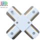 Соединитель электрический для шинопровода, двухфазный, X-образный, белый, пластик