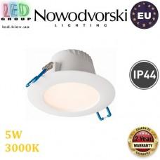 Светодиодный LED светильник Nowodvorski HELIOS 8991, 5W, 3000К, IP44, круглый, встраиваемый, точечный. ЕВРОПА!