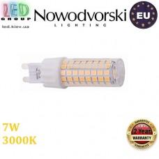 Светодиодная LED лампа Nowodvorski 9197 LED LENS BULB, 7W, G9, 360°, 3000К – тёплое свечение, белый корпус. ЕВРОПА!!!