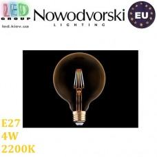 Светодиодная LED лампа Nowodvorski VINTAGE LED BULB 9797, 4W, E27, G95, 360°, 2200K – тёплое свечение. ЕВРОПА!!!
