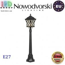 Cветильник/корпус садово-парковый Nowodvorski TAY I 5294, 1xE27, накладной, алюминий + стекло, чёрный. ЕВРОПА!