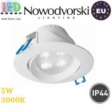 Светодиодный LED светильник Nowodvorski EOL 8988, 5W, 3000К, IP44, круглый, встраиваемый, точечный. ЕВРОПА!