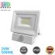Светодиодный LED прожектор, 20W, 5000K, IP65, с датчиком движения и освещения, алюминий + пластик, накладной, белый, RA≥80