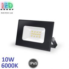 Светодиодный LED прожектор, 10W, 6000K, IP65, алюминиевый, накладной, чёрный, RA≥70