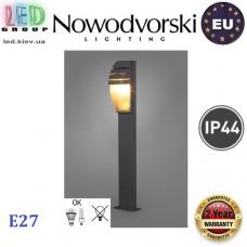 Cветильник/корпус садово-парковый Nowodvorski MISTRAL I 3394, IP44, 1xE27, накладной, алюминий + пластик, прямоугольный, цвета графит. ЕВРОПА!