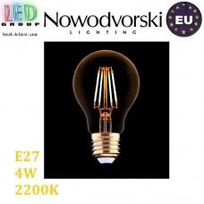 Светодиодная LED лампа Nowodvorski VINTAGE 9794, 4W, E27, A60, 360°, 2200K – тёплое свечение. ЕВРОПА!!!