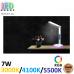 Настольная светодиодная лампа 7W, 3000K/4100K/5500K, RGB-подсветка, будильник, термометр, ABS + металл, белая, RA≥90