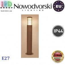Cветильник/корпус садово-парковый Nowodvorski NORN I 4906, IP44, 1xE27, накладной, алюминий + стекло, круглый, коричневый. ЕВРОПА!