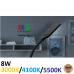 Напольная светодиодная лампа 8W, 3000K/4100K/5500K, три уровня яркости, гибкий корпус, ABS + алюминий + силикон, накладная, белая, RA≥90