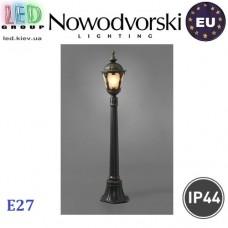 Cветильник/корпус садово-парковый Nowodvorski TYBR I 4685, IP44, 1xE27, накладной, алюминий + стекло, чёрный. ЕВРОПА!