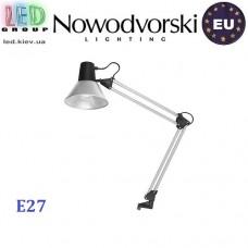 Настольная лампа/корпус Nowodvorski STUDENT 6227, 1xE27, сталь, серебристая. ЕВРОПА!