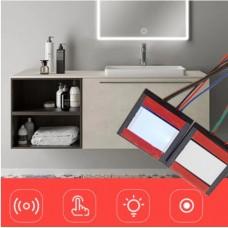 Сенсорный выключатель скрытого монтажа 12 Вольт на зеркало или стекло для LED подсветки зеркала, 36W