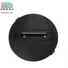 Шинопровод для светодиодных трековых светильников, двухфазный, встроенный, круглый, чёрный, пластик