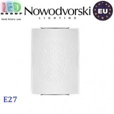 Светильник/корпус настенный Nowodvorski ROSETTE 3 5694, 1xE27, накладной, стекло, белый. ЕВРОПА!!!